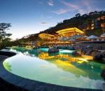 ANDAZ Pool at night